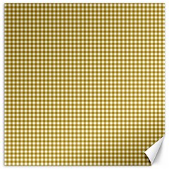 Golden Yellow Tablecloth Plaid Line Canvas 20  X 20   by Alisyart