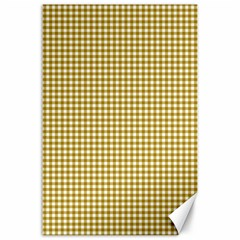 Golden Yellow Tablecloth Plaid Line Canvas 24  X 36  by Alisyart