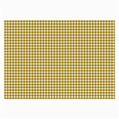 Golden Yellow Tablecloth Plaid Line Large Glasses Cloth by Alisyart