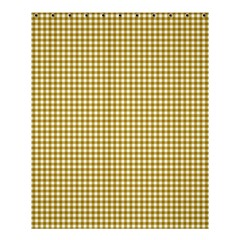Golden Yellow Tablecloth Plaid Line Shower Curtain 60  X 72  (medium)  by Alisyart