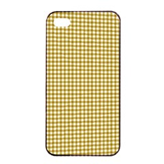 Golden Yellow Tablecloth Plaid Line Apple Iphone 4/4s Seamless Case (black) by Alisyart