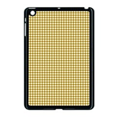 Golden Yellow Tablecloth Plaid Line Apple Ipad Mini Case (black) by Alisyart