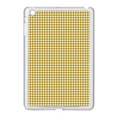 Golden Yellow Tablecloth Plaid Line Apple Ipad Mini Case (white) by Alisyart