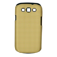 Golden Yellow Tablecloth Plaid Line Samsung Galaxy S Iii Classic Hardshell Case (pc+silicone)