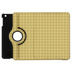 Golden Yellow Tablecloth Plaid Line Apple Ipad Mini Flip 360 Case by Alisyart