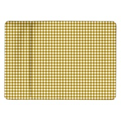 Golden Yellow Tablecloth Plaid Line Samsung Galaxy Tab 10 1  P7500 Flip Case