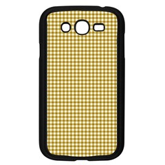 Golden Yellow Tablecloth Plaid Line Samsung Galaxy Grand Duos I9082 Case (black)