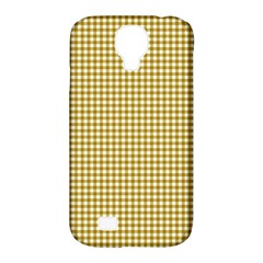 Golden Yellow Tablecloth Plaid Line Samsung Galaxy S4 Classic Hardshell Case (pc+silicone) by Alisyart