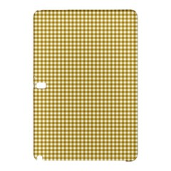 Golden Yellow Tablecloth Plaid Line Samsung Galaxy Tab Pro 10 1 Hardshell Case