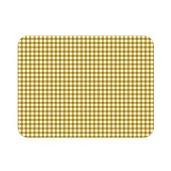 Golden Yellow Tablecloth Plaid Line Double Sided Flano Blanket (mini)  by Alisyart