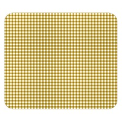 Golden Yellow Tablecloth Plaid Line Double Sided Flano Blanket (small)