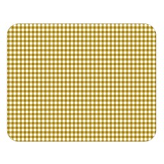 Golden Yellow Tablecloth Plaid Line Double Sided Flano Blanket (large)  by Alisyart