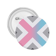 Flag X Blue Pink Grey White Chevron 2 25  Buttons by Alisyart