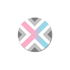 Flag X Blue Pink Grey White Chevron Golf Ball Marker (4 Pack) by Alisyart