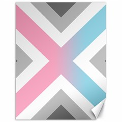 Flag X Blue Pink Grey White Chevron Canvas 18  X 24   by Alisyart