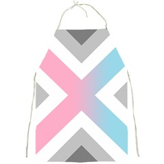 Flag X Blue Pink Grey White Chevron Full Print Aprons