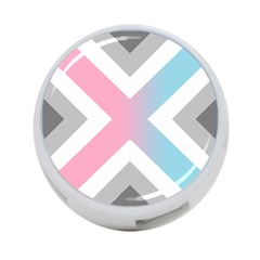 Flag X Blue Pink Grey White Chevron 4 Port Usb Hub (one Side) by Alisyart