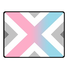 Flag X Blue Pink Grey White Chevron Fleece Blanket (small) by Alisyart