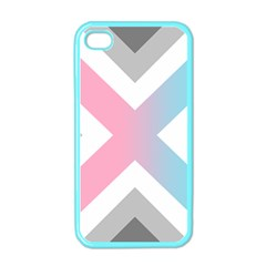 Flag X Blue Pink Grey White Chevron Apple Iphone 4 Case (color) by Alisyart