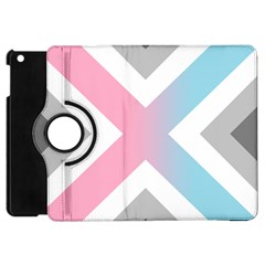 Flag X Blue Pink Grey White Chevron Apple Ipad Mini Flip 360 Case by Alisyart