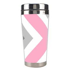 Flag X Blue Pink Grey White Chevron Stainless Steel Travel Tumblers by Alisyart