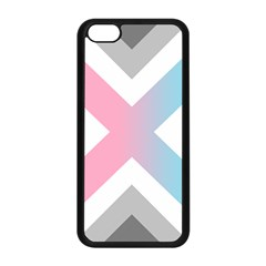 Flag X Blue Pink Grey White Chevron Apple Iphone 5c Seamless Case (black) by Alisyart