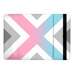 Flag X Blue Pink Grey White Chevron Samsung Galaxy Tab Pro 10 1  Flip Case by Alisyart