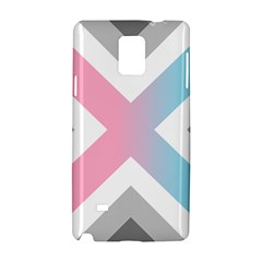 Flag X Blue Pink Grey White Chevron Samsung Galaxy Note 4 Hardshell Case by Alisyart