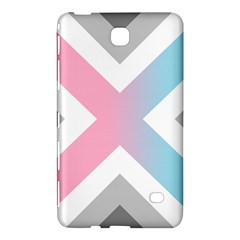 Flag X Blue Pink Grey White Chevron Samsung Galaxy Tab 4 (8 ) Hardshell Case  by Alisyart
