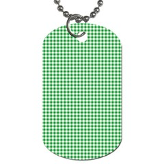 Green Tablecloth Plaid Line Dog Tag (one Side) by Alisyart