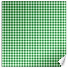 Green Tablecloth Plaid Line Canvas 20  X 20   by Alisyart