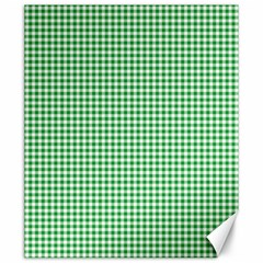 Green Tablecloth Plaid Line Canvas 20  X 24   by Alisyart