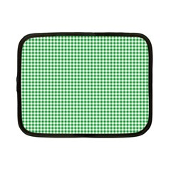 Green Tablecloth Plaid Line Netbook Case (small)  by Alisyart