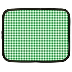 Green Tablecloth Plaid Line Netbook Case (large) by Alisyart