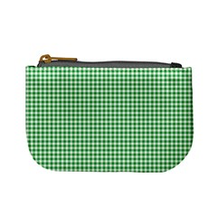 Green Tablecloth Plaid Line Mini Coin Purses