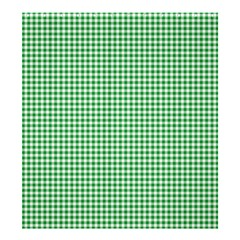 Green Tablecloth Plaid Line Shower Curtain 66  X 72  (large)