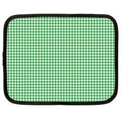 Green Tablecloth Plaid Line Netbook Case (xxl)
