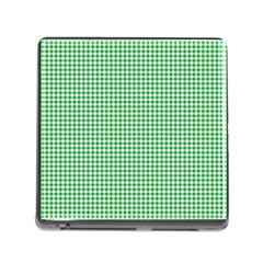 Green Tablecloth Plaid Line Memory Card Reader (square) by Alisyart
