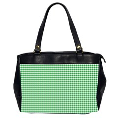 Green Tablecloth Plaid Line Office Handbags (2 Sides)  by Alisyart
