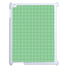 Green Tablecloth Plaid Line Apple Ipad 2 Case (white)