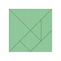 Green Tablecloth Plaid Line Acrylic Tangram Puzzle (4  X 4 ) by Alisyart