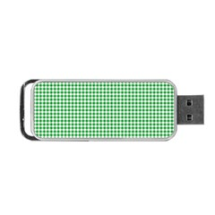 Green Tablecloth Plaid Line Portable Usb Flash (two Sides) by Alisyart