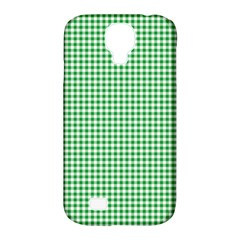 Green Tablecloth Plaid Line Samsung Galaxy S4 Classic Hardshell Case (pc+silicone) by Alisyart