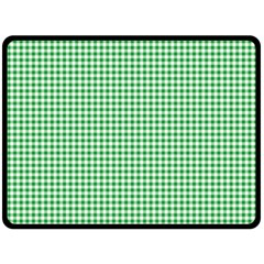Green Tablecloth Plaid Line Double Sided Fleece Blanket (large)  by Alisyart