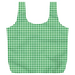 Green Tablecloth Plaid Line Full Print Recycle Bags (l)