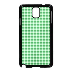 Green Tablecloth Plaid Line Samsung Galaxy Note 3 Neo Hardshell Case (black) by Alisyart