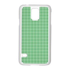 Green Tablecloth Plaid Line Samsung Galaxy S5 Case (white)