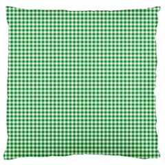 Green Tablecloth Plaid Line Standard Flano Cushion Case (one Side)