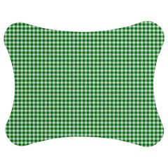 Green Tablecloth Plaid Line Jigsaw Puzzle Photo Stand (bow) by Alisyart