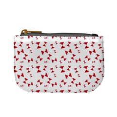Hour Glass Pattern Red White Triangle Mini Coin Purses by Alisyart